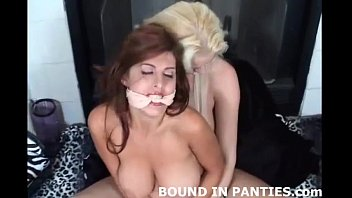 Captive pantied bondage cartoons Natalie minx bound tight in lingerie and stockings
