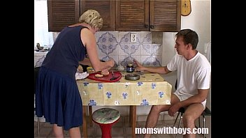 Mom fucks her boy story - Mature stepmom serving pussy in breakfast to her stepson