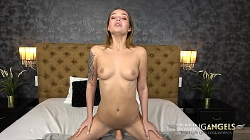 Watch Mia use her pierced tongue while practicing her blowjob skills