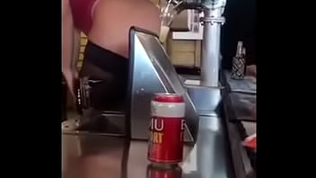 Sexy bartenders use ass to pour beer