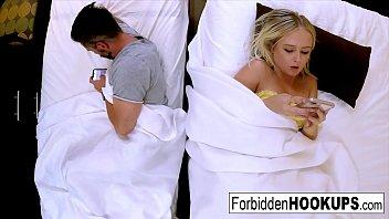 Bratty blonde fucks her lucky step-brother