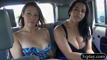 Jesse money nude - Two pretty women flash their big boobies for some money