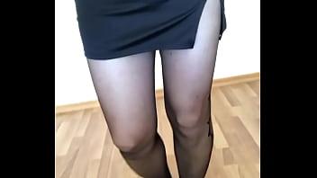 Tranny Pantyhose, Amazing Legs, Tranny Orgasm