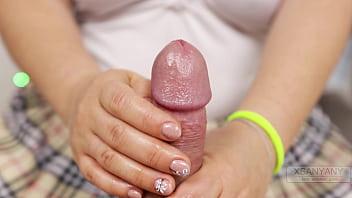 I Cum in Soft Hands of Japanese Teen.Oil Handjob XSanyAny