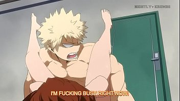 boku no hero academia Uraraka and  Bakugo done by nightly-krumbs