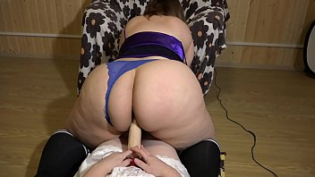 Lesbian riding astride a girlfriend, her fat booty in panties ripples. Fetish and PAWG POV.