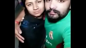 Desi cute sexy Bhabhi Give smooch kiss her hubby.