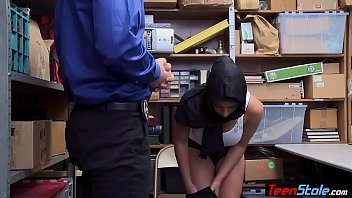 Busty muslim teen thief punish fucked by a LP officer 6 min