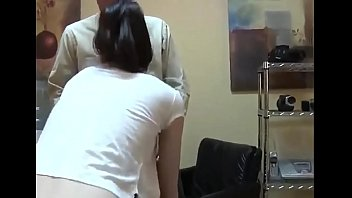 Young girl in the office is held by the uncle and fucked