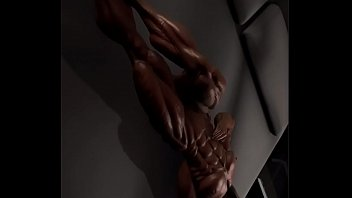 Ripped Muscle Girls Abs Popping