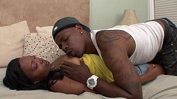 Black sluts D'Vae and Anita Peida share black dudes cock getting their pussy rammed