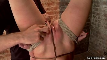 Sub is whipped and caned in suspension