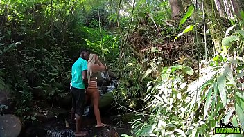Wanessa Boyer behind the camera fucking with black man endowed in the stream - Higor Negrao