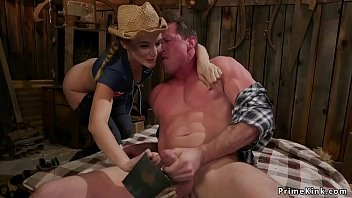 Rancher dom torments big cock dude