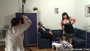 Big tits mature threesome sex 6 min