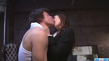 Shiona Suzumori removes undies to try cock in her snatch - More at javhd.net