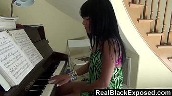Naked ebony young teen girls Realblackexposed - tila flame shows off her tits and butt while playing piano.