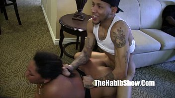 Ladybug Nasty ghetto hood freak getts spitted c. on group sex 9 min