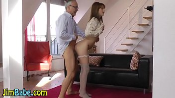 Teen babe and older guy