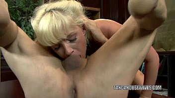 Blonde housewife Heidi Mayne gets nailed by a stranger porn image