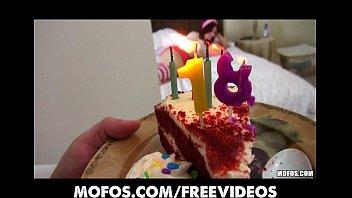 Alana Rains celebrates her birthday with a rough anal sessio