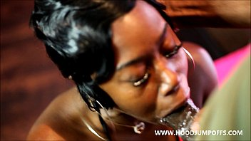 YOUNG BLACK TEEN GETS FUCKED AND GETS LARGE MESSY FACIAL