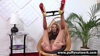 Wetandpuffy - Cute brunette Paris Divineenjoys a squirting orgasm