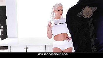 MYLF - Blonde Milf Deepthroats The Milkman's Big Cock thumbnail
