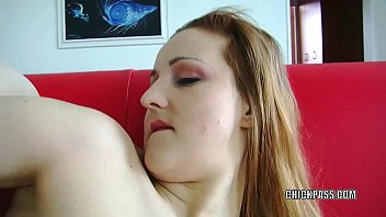 Redhead MILF Sanna is stuffing her tight twat with a toy