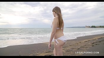 Ultimate double penetration of Luna Rival's teen pussy DPP and asshole DAP thumbnail