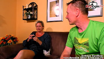 German amateur mature housewife at first porno 21 min