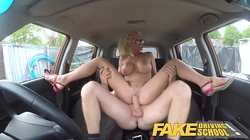 Carly kalab big tit patrol vids Fake driving school busty blonde learner fucks fake driving instructor