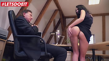 LETSDOEIT - #July Sun #Big George - Deutsche Secretary Has A Thing For Her Older Big Cock Boss