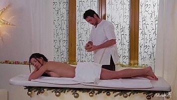 Relaxxxed - Nude Massage Turns To Sensual Christmas Sex With Spanish Alexa Tomas