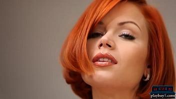 Natural European Redhead MILF Kami Gets Naked Solo