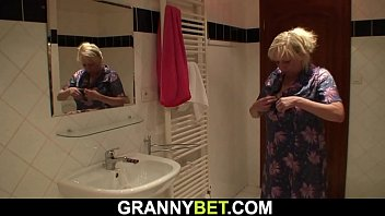 70 years old granny is doggy-style banged