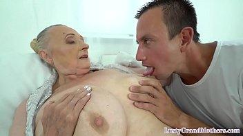 Saggy tittied granny fucking y. dick