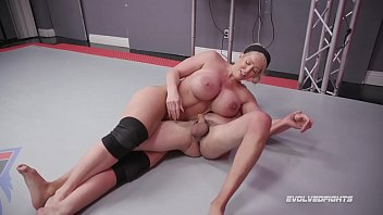 Nude women wresting - Alura jenson dominates in mixed nude wrestling kicking loser in the balls