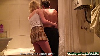College amateur assfucked at party