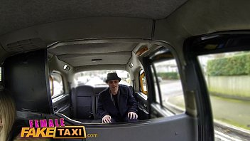 Female Fake Taxi Runaway passenger restrained by dominant blonde driver