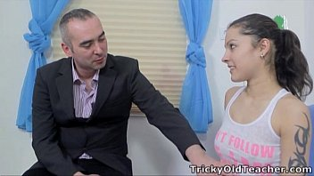 Eva's teacher enjoyed fucking his young coed