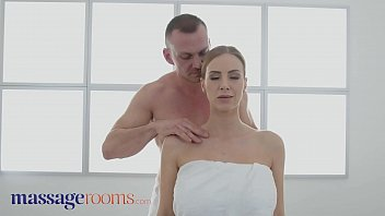 Massage Rooms Big tits blonde MILF Nathaly Cherie served a creampie 11 min