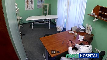 FakeHospital Teen model cums for tattoo doctor enjoys himself in her tight pussy