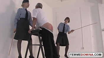 Corporal femdoms caning oldman sub together 6分钟