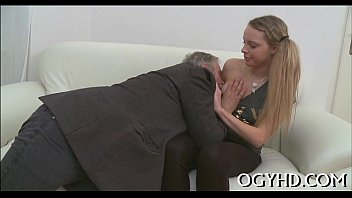 Videos licking old women pussy - Crazy old lad licks young pussy