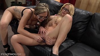 Stunning Blonde Penthouse Pet Angela Sommers Face Fucking a gorgeous Lesbian