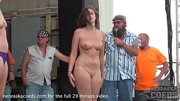 hot coed body contest at abate of iowa biker rally