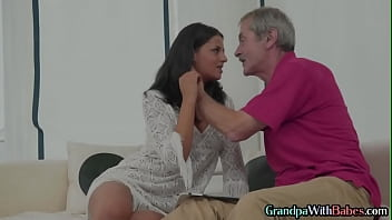 Perky tits amateur rides grandpas cock
