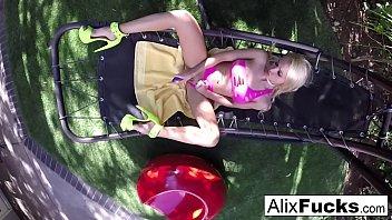 Alix Lynx fucks herself on a hammock