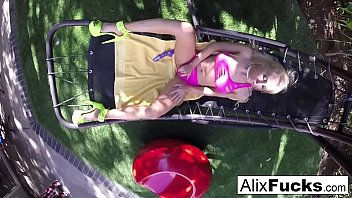 Alix Lynx fucks herself on a hammock